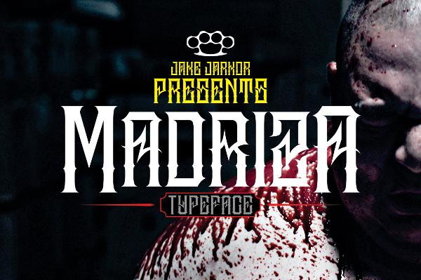 Madriza Tattoo Font