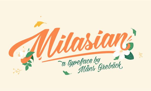 Milasian Thin Tattoo Font