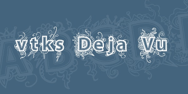 VTKS Deja Vu Tattoo Font