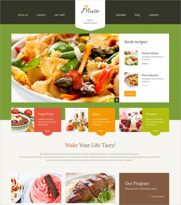 Cooking WordPress ThemeCooking WordPress Theme $75