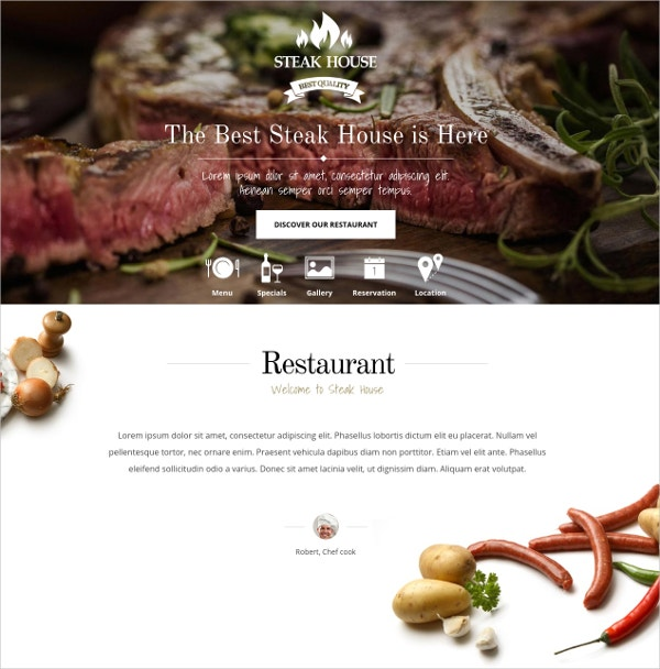 Catering Food WordPress Theme $44