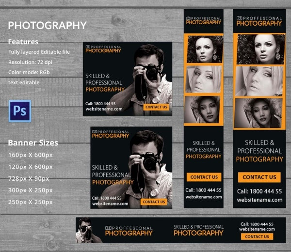 Photography Templates PSD EPS AI CDR Format Download Free - Photography ad template
