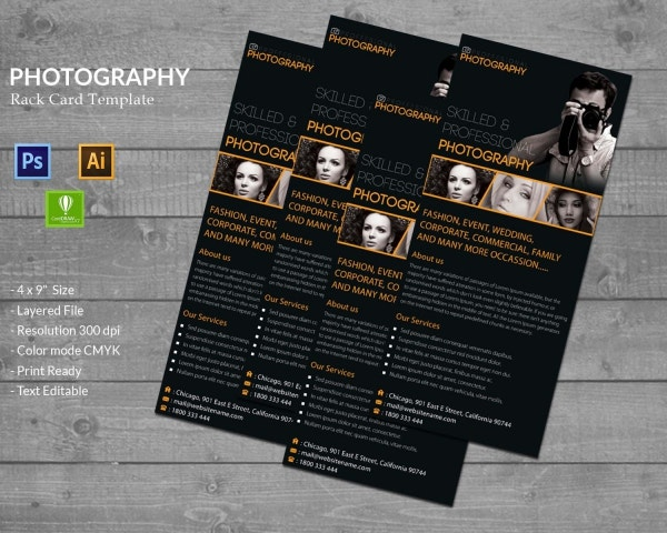 Photography Rack Card