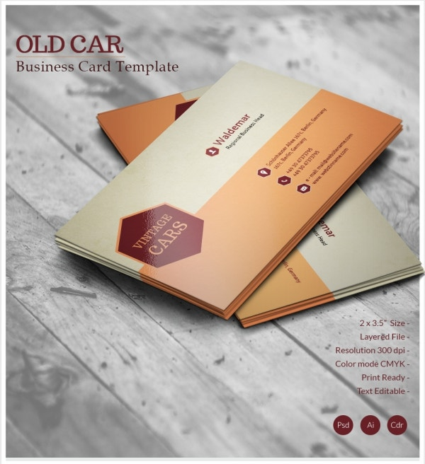 Old Car Business Card Template Design