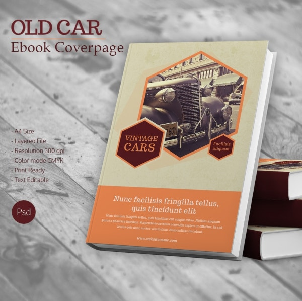 Old Book Cover Page ~ Book cover design template psd illustration