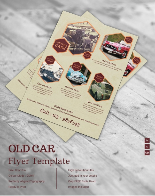 Old Car Flyer Template