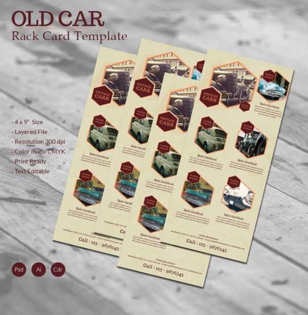 Old Car Rackcard