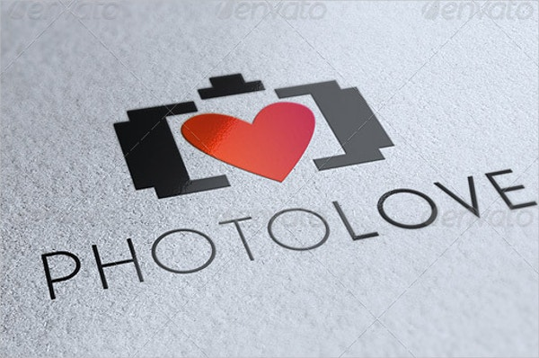 photography love logo design
