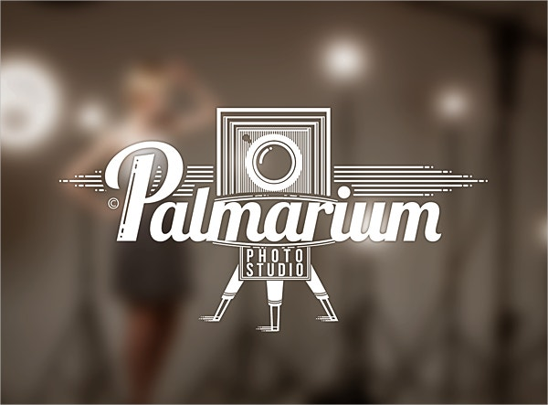 vintage photostudio logo design