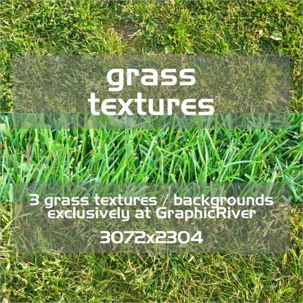 3 Seamless Grass Textures