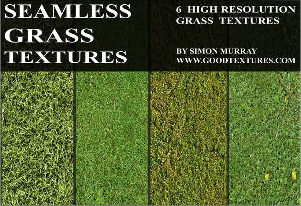 6 high resolution seamless green grass textures