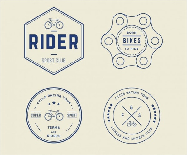 Retro Bike Logo Vector