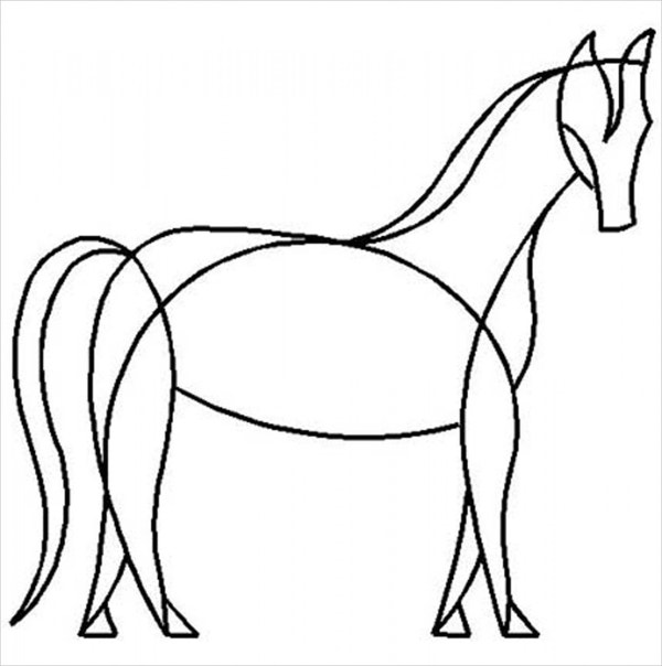Horse Quilting Stencil Template