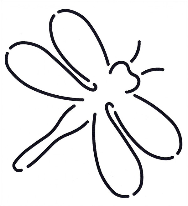 Dragonfly Stencil Template
