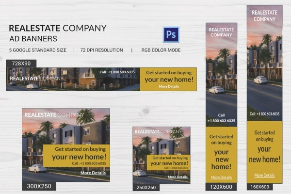 real estate company ad banners