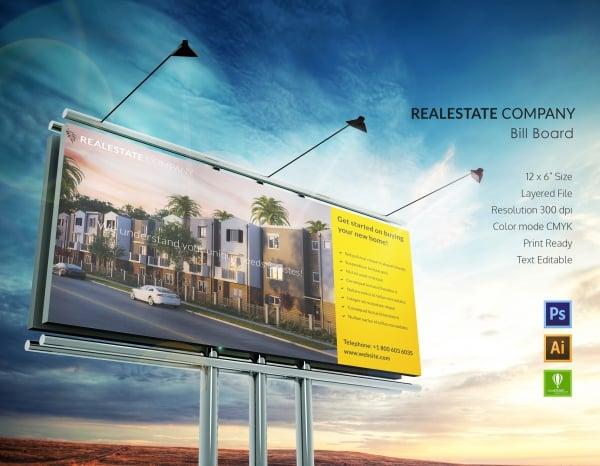 real estate company billboard