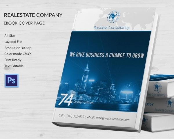 Real Estate Company Ebook Cover Page