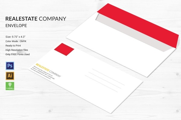 Real Estate Company Envelope