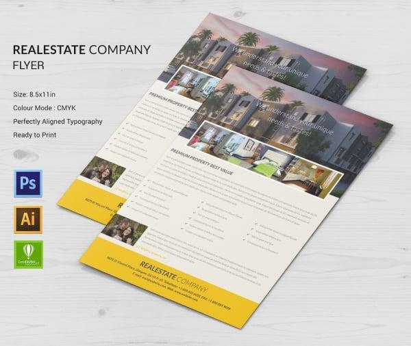real estate company flyer design