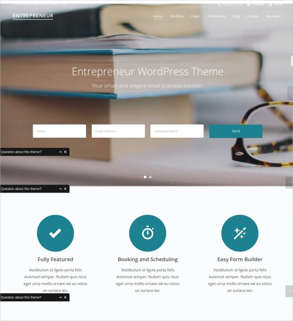 WordPress Business Theme for Entrepreneurs $49