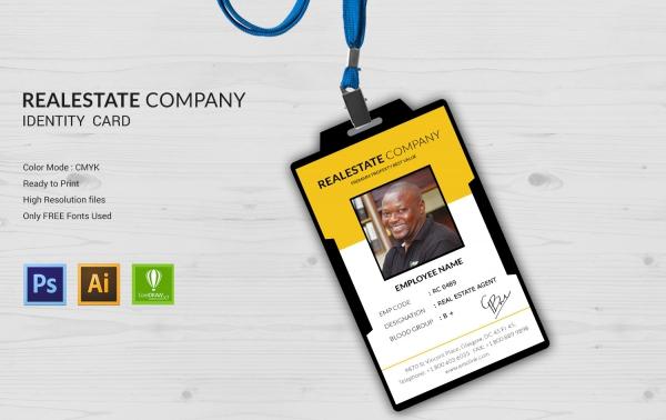 real estate company identity card