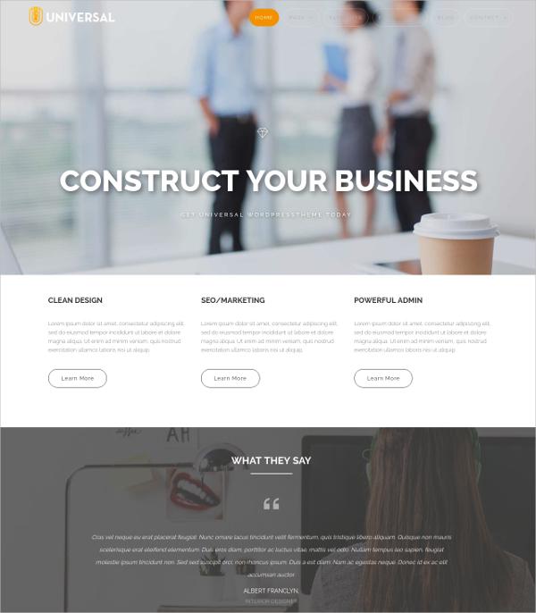 Business Portfolio WordPress Theme $59