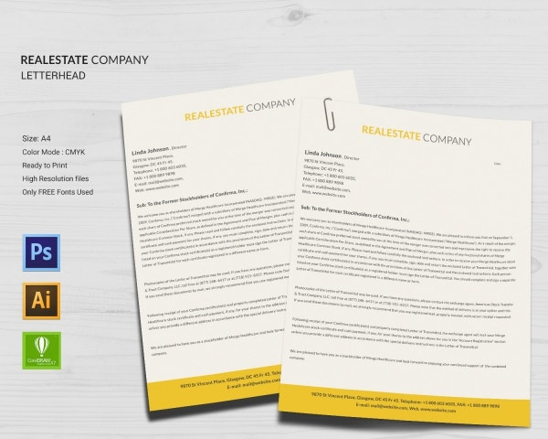 real estate company letterhead