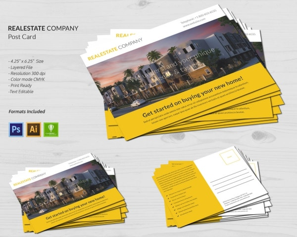 Real Estate Company Postcard