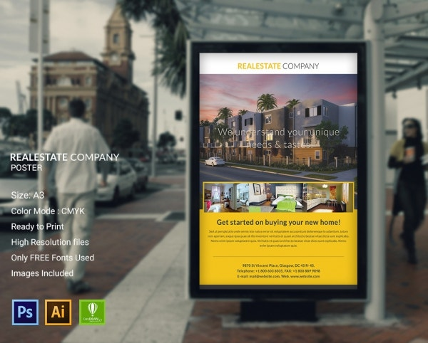 Real Estate Company Poster
