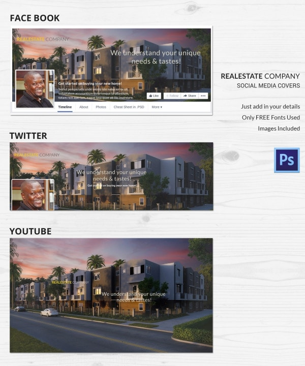 Real Estate Company Social Media Covers