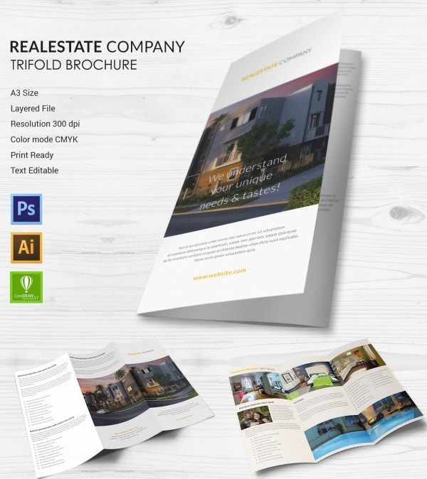 Real Estate Company Trifold Brochure
