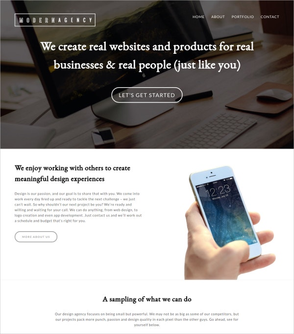free wp theme for business
