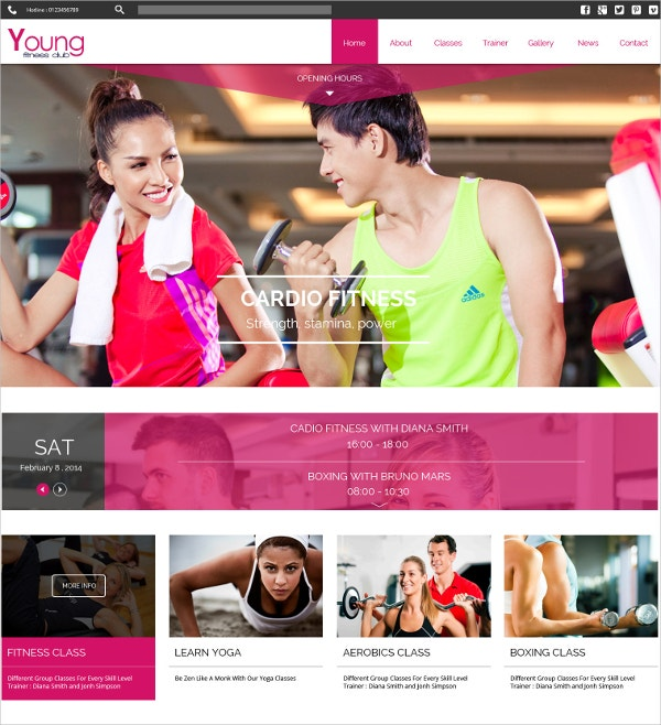 Spa & Fitness Joomla Template $48