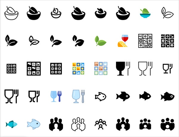 50+ Food Icons