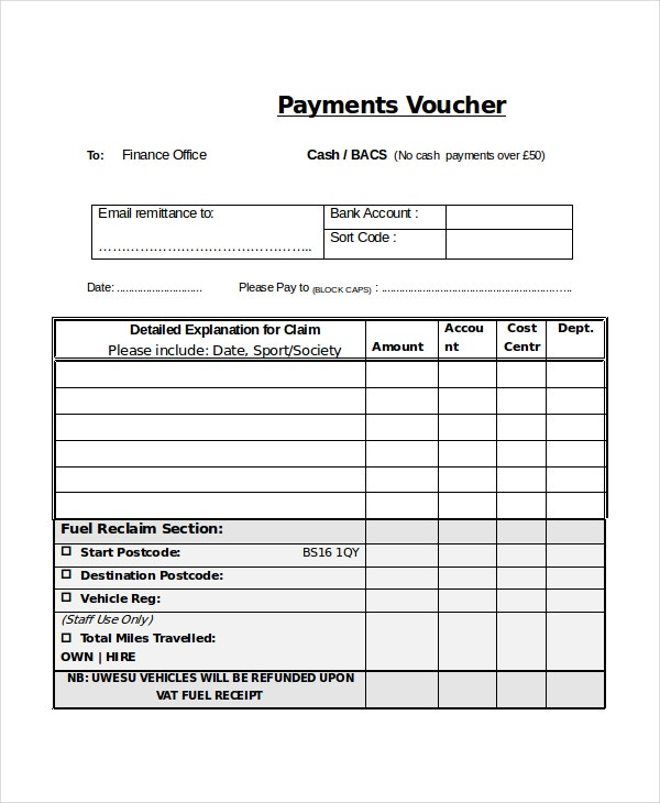 Sample Check Voucher Check Voucher Template Microsoft Office