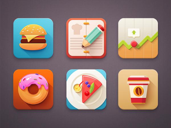 Minimal Food Icons