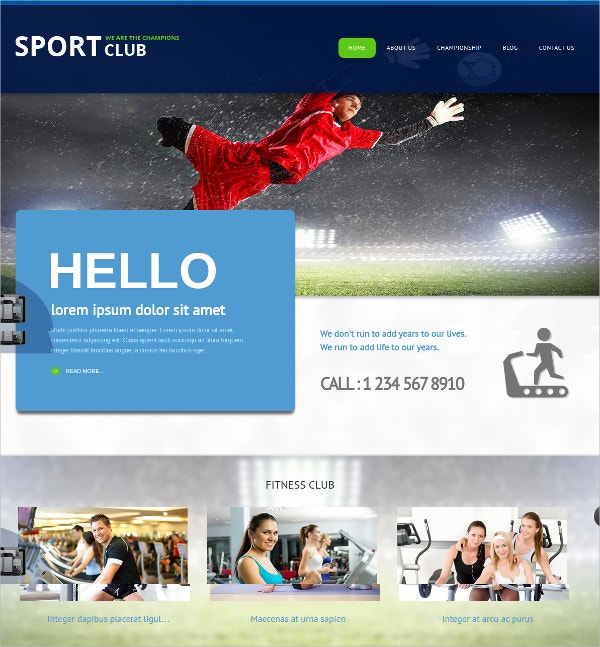 Sport Club & Fitness Joomla Theme $35