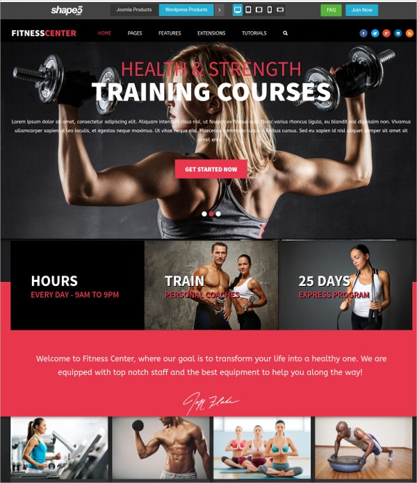 Personal Training Fitness Joomla Template $39