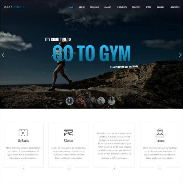 Fitness Responsive Joomla Template $48