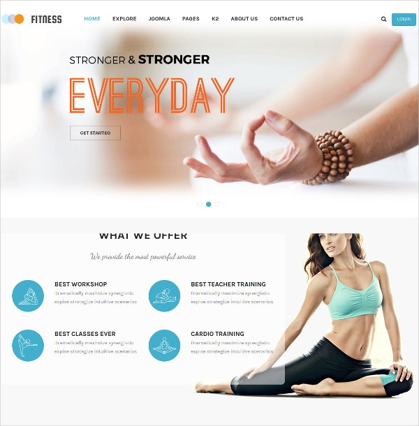 Yoga Center Fitness Joomla Template $39
