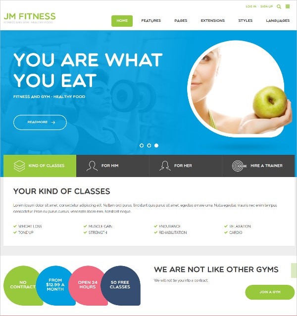 modern fitness joomla template 49
