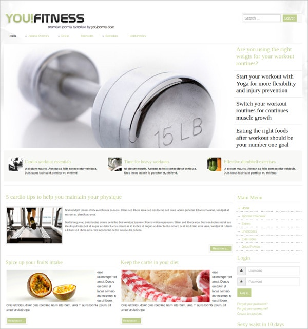 Perfect Fitness Joomla Template