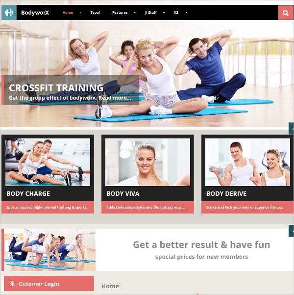Responsive Gym & Fitness Joomla Template