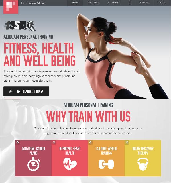 fitness life joomla template