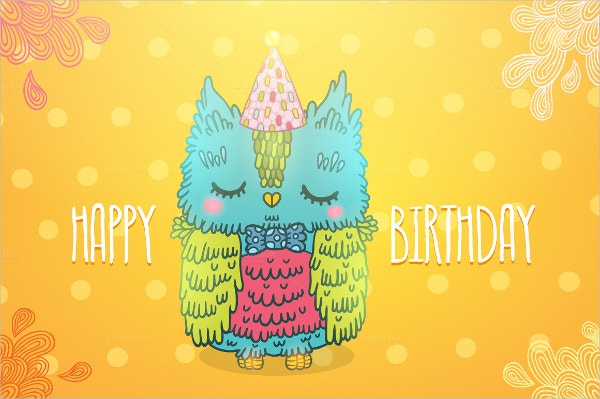 Owl Birthday Invitation Template