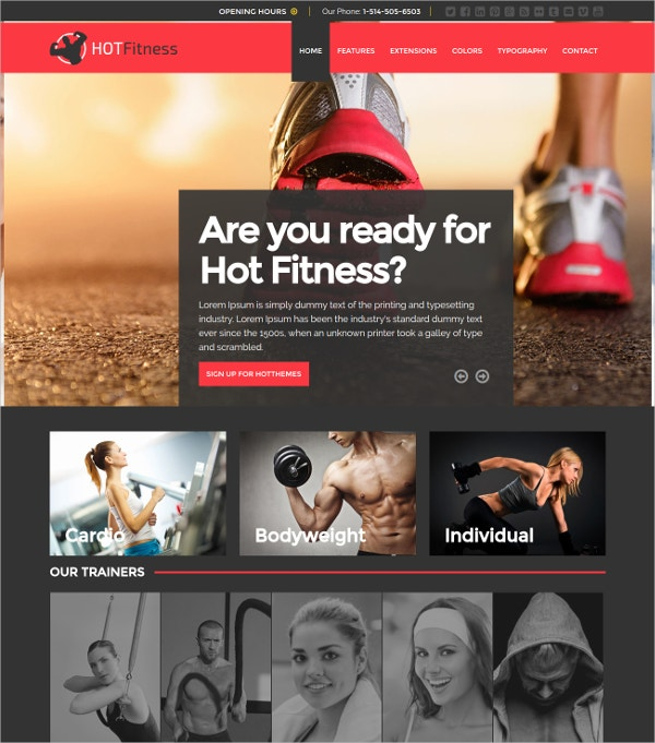 Fitness Studios & Gym Joomla Template