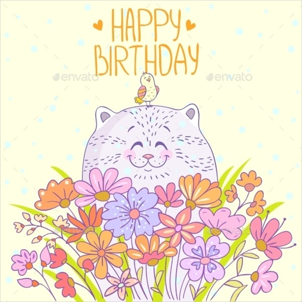 Pussycat Birthday Invitation Template