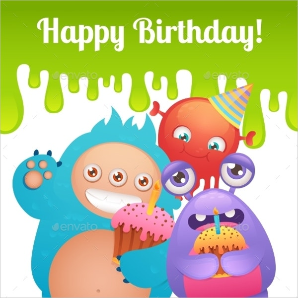 Monsters Birthday Invitation Template