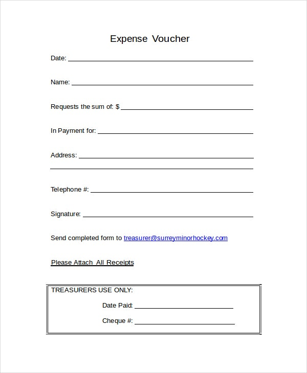 Word Voucher Template