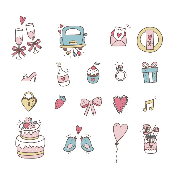 Hand Drawing Line Icons : Clipart free icon wedding